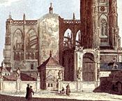 Kaple sv.Vojtěcha uzápadního průčelí nedostavěného chrámu.