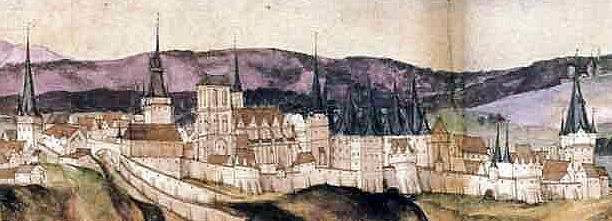 Výřez zWuerzburské veduty 1538
